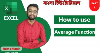 How to use Average Formula in excel 2019