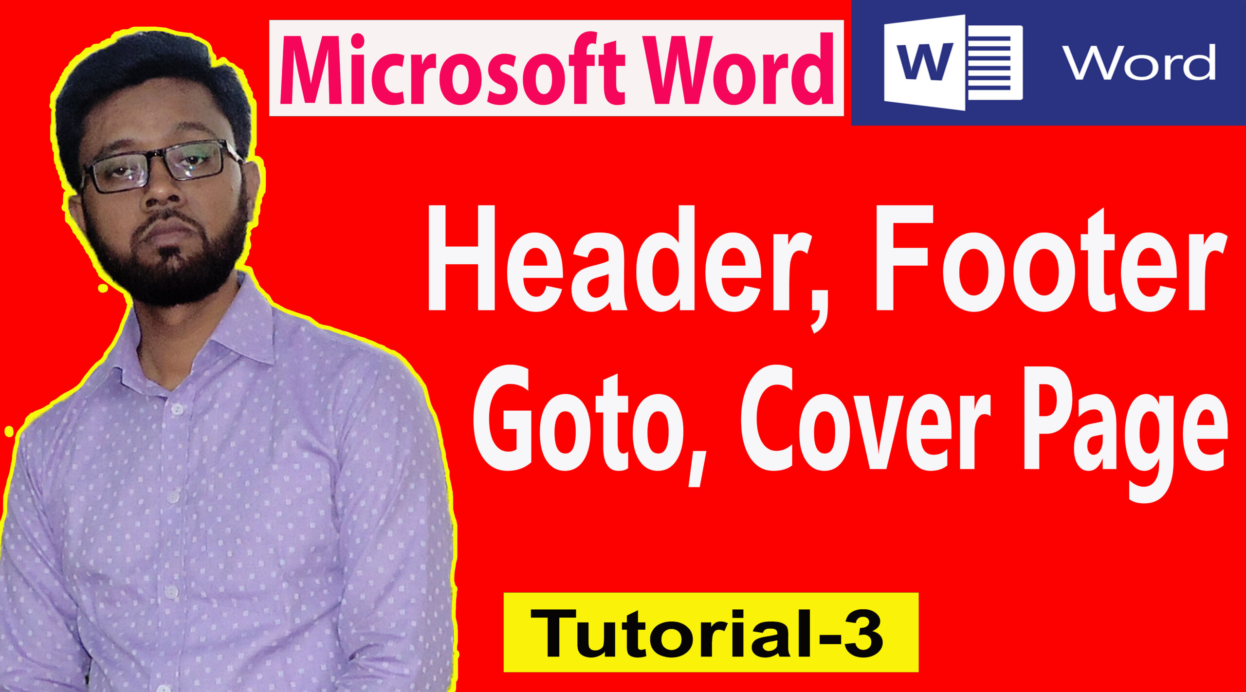 How to use Go to, Header, Footer, Page Break, Cover Page in ms word 2007