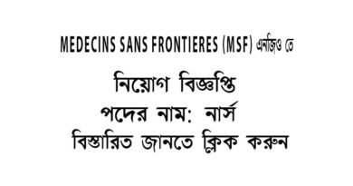 MSF-NGO-JOB CIRCULAR